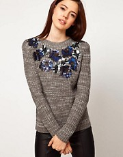 ASOS Embellished Neck Jumper