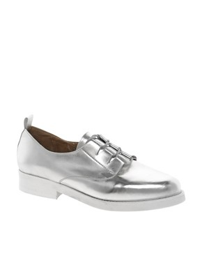 Image 1 ofASOS MUSIC Metallic Flat Shoes