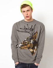 Rook Crew Sweatshirt Camo Deer