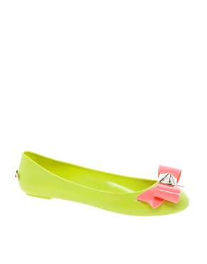 Image 1 ofTed Baker Joleey Green Ballet Flats