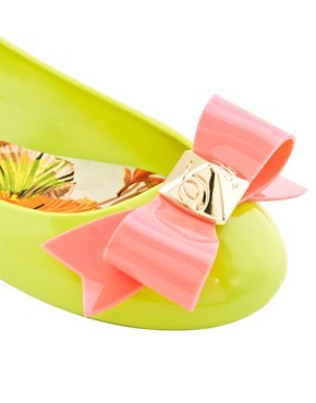 Image 2 ofTed Baker Joleey Green Ballet Flats