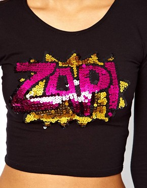 Image 3 ofMotel Bonnie Top With Sequin Zap