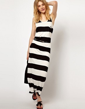 Vila | Vila Stripe Maxi Dress at ASOS :  spring black stripe white