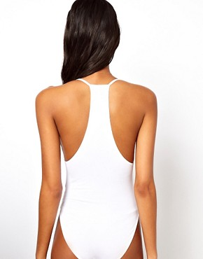 Image 2 of ASOS Body with Skinny Straps and V Neck
