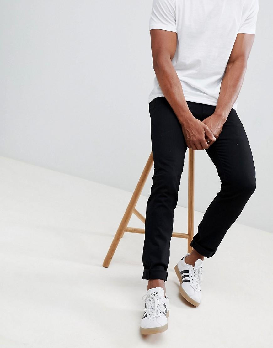 PS Paul Smith - Schmale Stretch-Jeans in Schwarz - Schwarz   Bekleidung > Jeans > Stretch Jeans   Schwarz   Jeans   PS Paul Smith