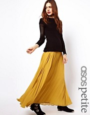 ASOS PETITE Pleated Maxi Skirt