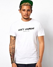 Reason T-Shirt with Aint Laurent Print