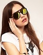 Image 3 ofASOS Tort Plastic Aviator Sunglasses with mirrored Lens