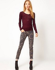 Citizens of Humanity Thompson Medium Rise Cord Jean in Paisley