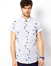 The Critical Slide Society Shirt Short Sleeve Palm Print