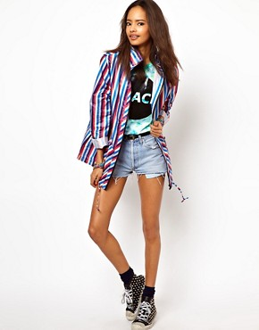 Image 4 ofASOS Stripe Pac A Parka