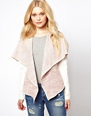 River Island Waterfall Front Jacket With Contrast Sleeves