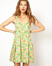 Paul and Joe Sister Floral Dress with Cut out Back Detail