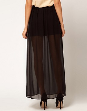 Image 2 ofASOS maxi Skirt with Double Split
