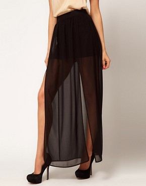 Image 4 ofASOS maxi Skirt with Double Split