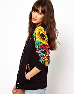 Image 1 of Joyrich Floral Varisty Jacket