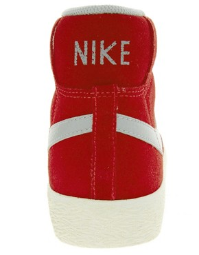 Image 2 ofNike Blazer Mid Red High Top Trainers