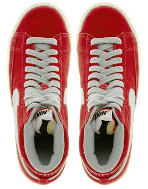 Image 4 ofNike Blazer Mid Red High Top Trainers