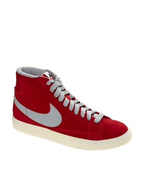 Image 1 ofNike Blazer Mid Red High Top Trainers