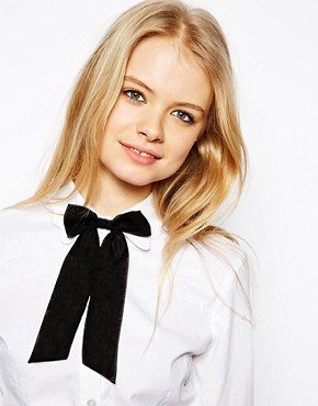 Image 1 of ASOS Chiffon Bow Neck Tie