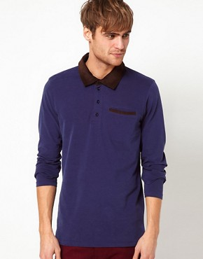 Image 1 ofSelected Long Sleeve Polo Shirt
