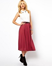 ASOS Full Midi Skirt with Pleats