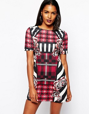 River Island Mix Print Shift Dress