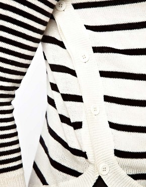 Image 3 ofASOS Maternity Jumper in Stripe With Button Side