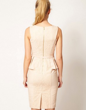 Image 2 ofWarehouse Embroidered Peplum Corset Dress