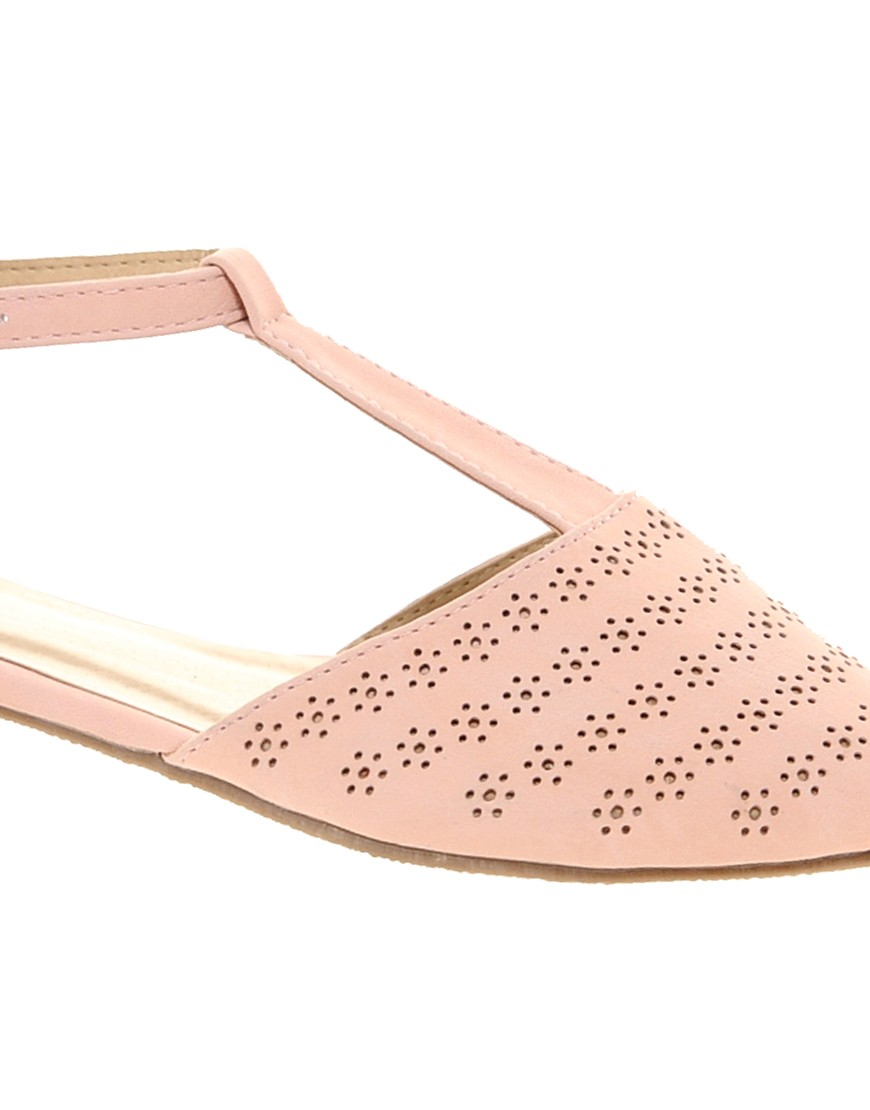 Image 2 of ASOS JEMIMA Flat Shoes with T-bar