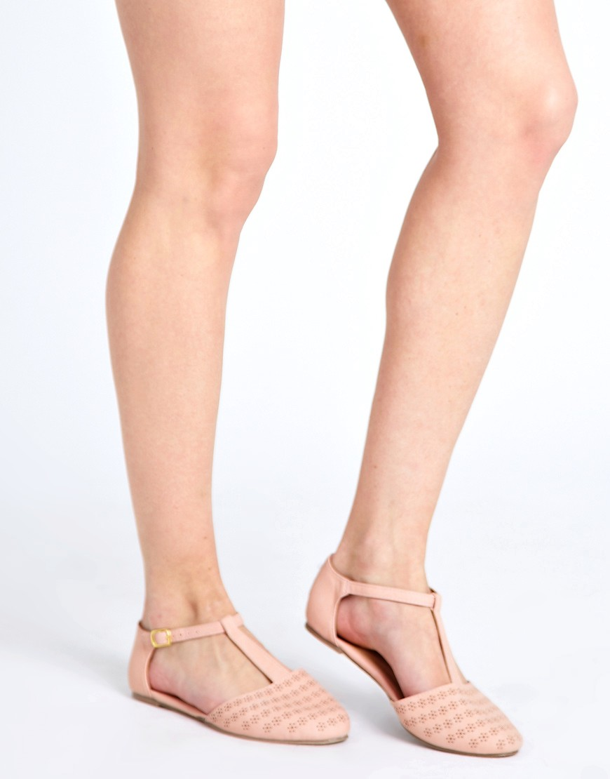 Image 3 of ASOS JEMIMA Flat Shoes with T-bar