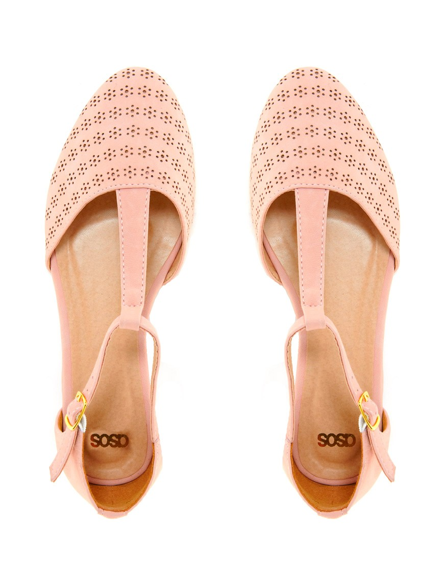 Image 4 of ASOS JEMIMA Flat Shoes with T-bar