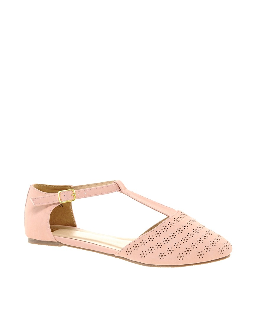 Image 1 of ASOS JEMIMA Flat Shoes with T-bar