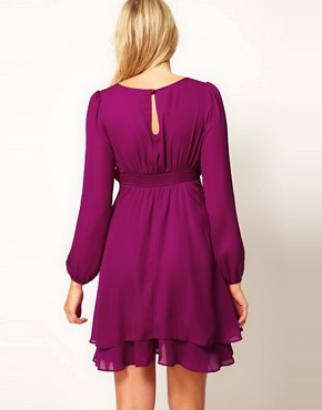Image 2 ofASOS Maternity Double Layer Dress With Long Sleeves