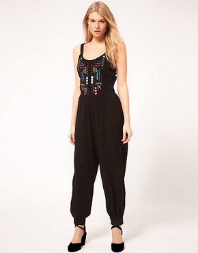 Image 4 ofASOS PETITE Exclusive Mex Tex Jumpsuit