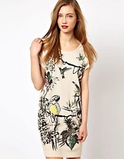 Markus Lupfer Framed Garden Embellished Dress