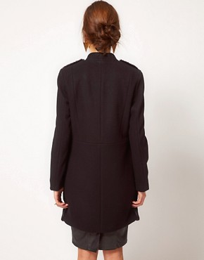 Image 2 ofWarehouse Fur Front Tailored Coat
