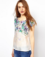 Warehouse Placement Print Floral Print Top