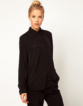 Image 2 ofASOS Shirt With Cutout Lace Bow Back