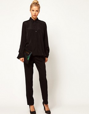 Image 4 ofASOS Shirt With Cutout Lace Bow Back