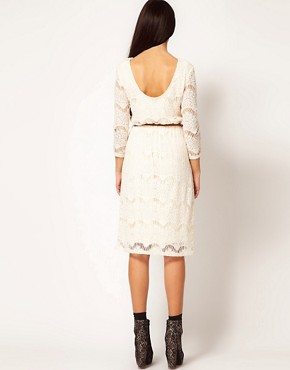 Image 2 ofRiver Island Chelsea Girl Lace Dress With Belt