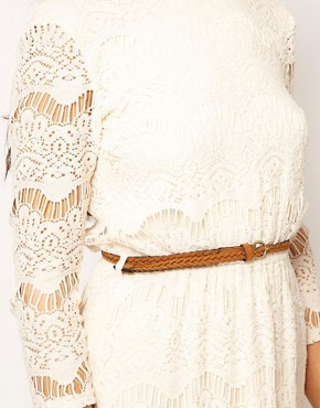 Image 3 ofRiver Island Chelsea Girl Lace Dress With Belt
