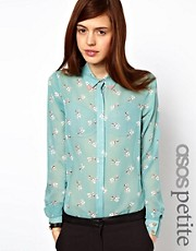 ASOS PETITE Shirt in I Heart Pugs Print
