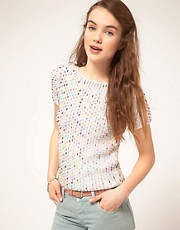 ASOS Premium Sequin Shell Top