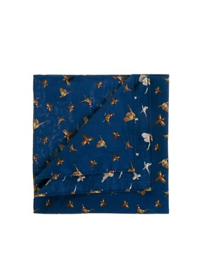 Image 1 ofASOS Bird Printed Pocket Square
