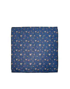 Image 2 ofASOS Bird Printed Pocket Square