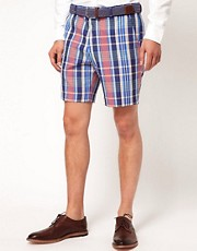 ASOS Slim Fit Shorts In Check