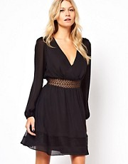 ASOS Skater Dress With Lace Waist Detail