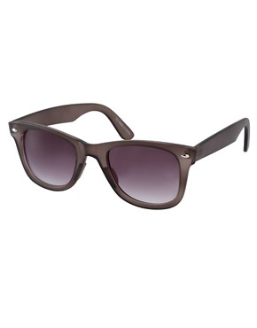 Image 1 of ASOS Matt Crystal Wayfarer