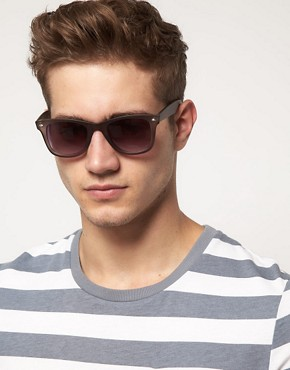 Image 3 of ASOS Matt Crystal Wayfarer